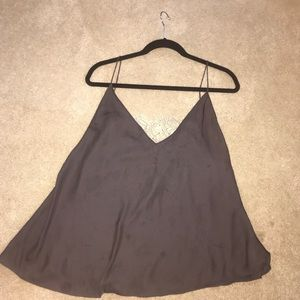 Size small charcoal grey free people tank